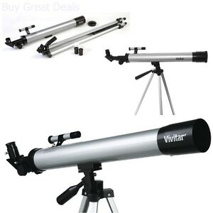 Telescope-w-Tripod-Bird-Stars-Moon-Space-Watching-Beginners-Scope-Full-Kit-New