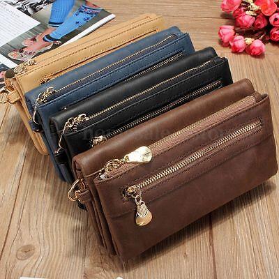 Fashion Women Zipper Clutch Wallet Long Leather Card Holder Case Purse Handbag