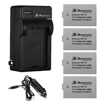 Bp-110 Battery + Charger For Canon Vixia Hf R20 R21 R200 R206 Legria R26 R28 R27