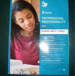 Details about ❤✔ *LIKE NEW* Barbri 2018 Professional Responsibility For  MPRE 👍✴