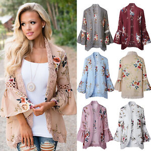 Boho-Womens-Long-Sleeve-Lace-Floral-Kimono-Cardigan-Ladies-Casual-Jacket-Tops-AU