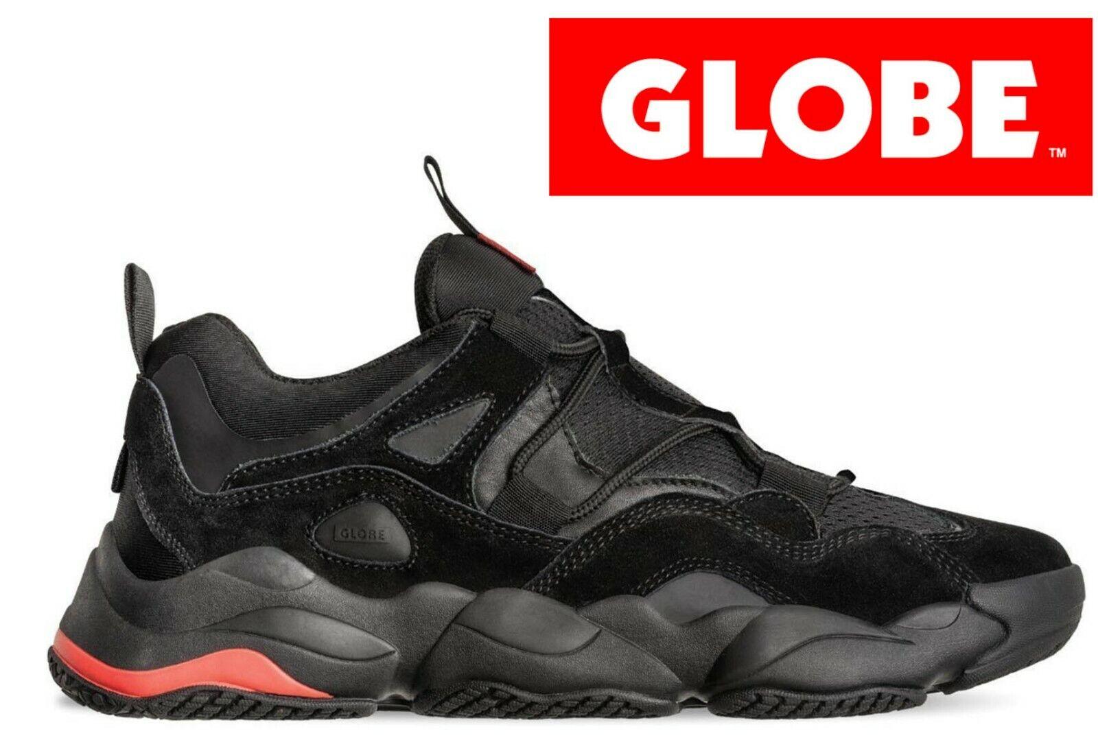 Globe-opción Evo-NEGRO-Zapatos para hombre-Talla UK7-UK12 (EU40.5-EU47)