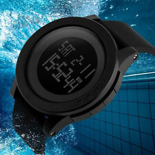 Waterproof Diving Military Mens Digital Stainless Steel Chronograph Date Watch