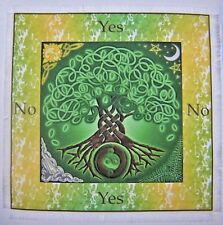 Wiccan Tree of life Scrying Mat for use with pendulum Wicca divination, Gift