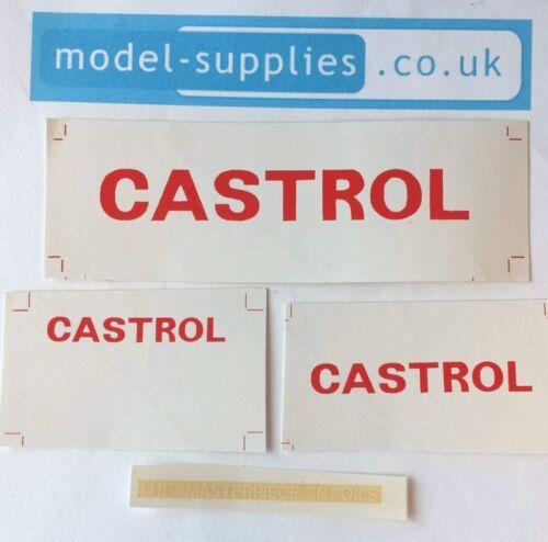 Dinky 450 Bedford TK Box Van Castrol Reproduction Stickers Set
