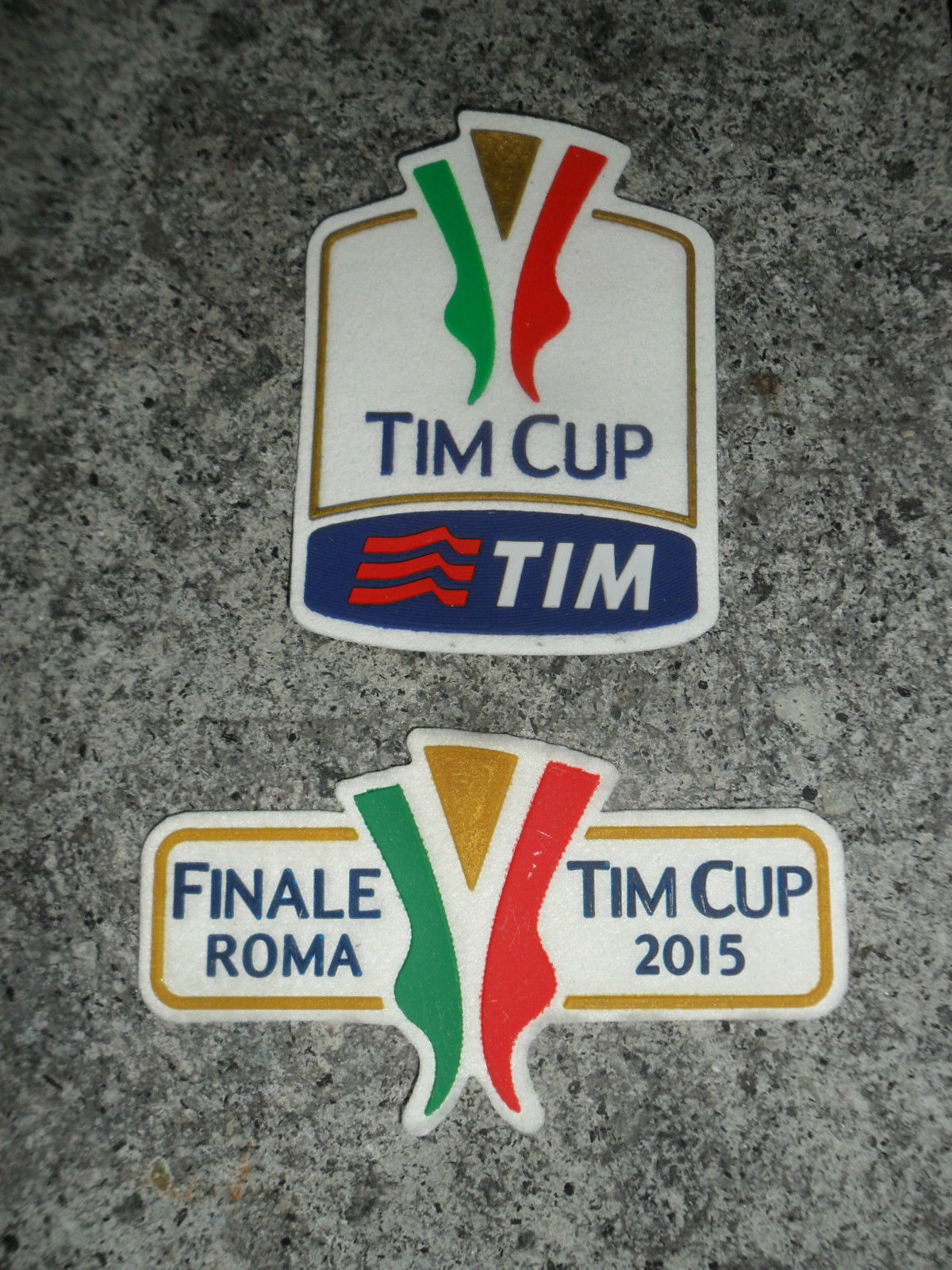 SET PATCH TOPPE FINALE ROMA 2015 TIM CUP FINAL MATCH LAZIO JUVENTUS PATCHES 30
