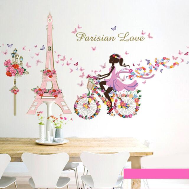 Girl Flower Removable Wall Art Sticker Vinyl Decal DIY Room Home Mural Decora