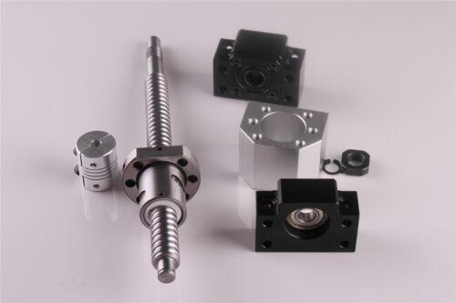 BK12//BF12 SFU1605 L250-1500mm Kugelumlaufspindel Satz Mutterblock kupplung