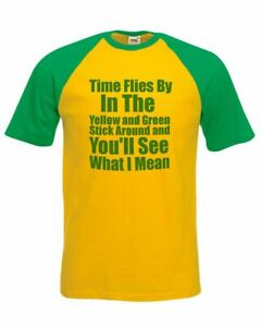 Great-Festival-Unisex-Yellow-amp-Green-T-Shirt-Time-Flies-By-Stick-Around