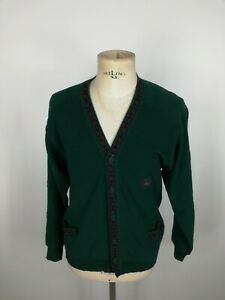 NAVIGARE-CARDIGAN-VINTAGE-in-LANA-Maglione-Pullover-MADE-in-ITALY-Tg-M-Uomo