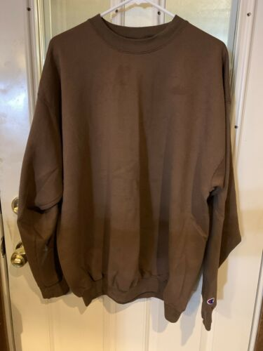 Vintage 80's Brown Champion Crew Neck Sweatshirt X