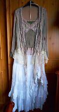 Exquisite vintage girly Arrogant Cat Cami Top & Cardigan Set layers ruffles bows