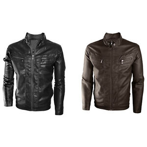a23e60ccd2a9 Alta Men's Motorcycle Faux Leather Jacket Quilted Lining Zip Up ...