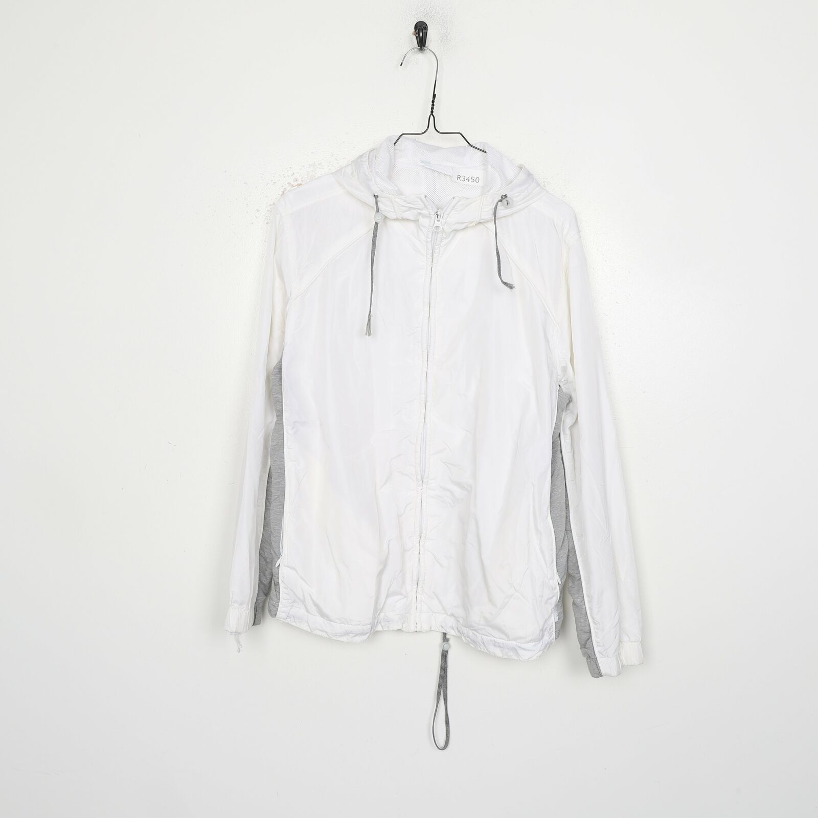 90s DIADORA Hooded Windbreaker Jacket White | Large L