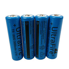 4X 18650 5000mAh 3.7V Li-ion Rechargeable Battery For UltraFire Flashlight Torch