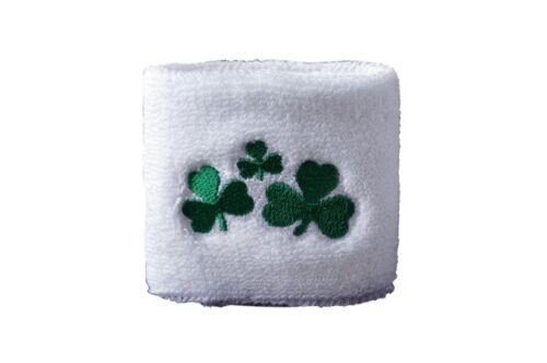 Schweißband Fahne Flagge Irland Shamrock 7x8cm Armband für Sport