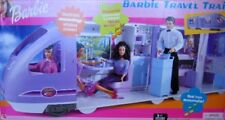 Barbie Travel Train Vehicle Playset with Sounds, Electronic Moving Window Scener
