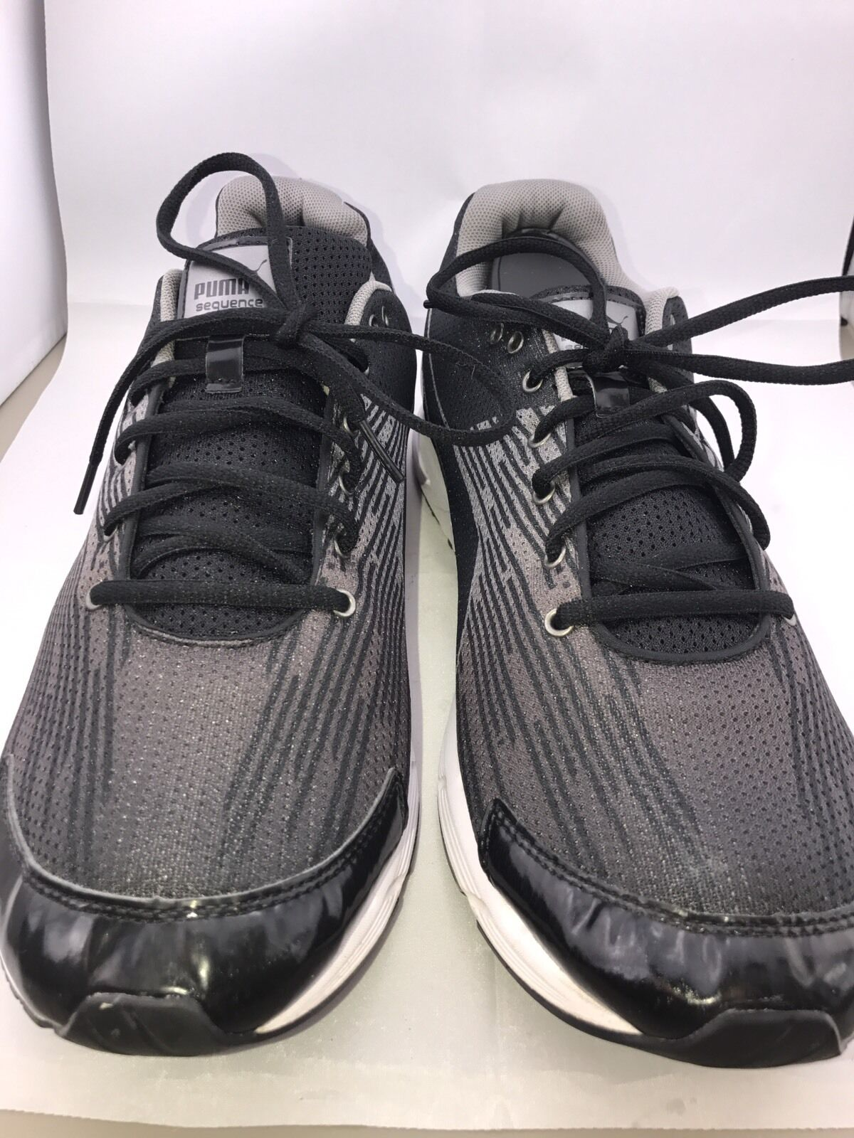 Puma Men's Black Gray Running Athletic Shoe size 13 Great discount