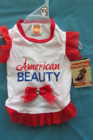 Xs Dog Clothing T-shirt Dress American Beauty By Simply Dog