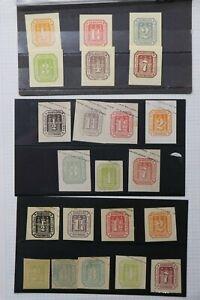 Hamburg-Germany-Postal-Stationary-cut-square-Castle-set-lot-22-unused-envelope