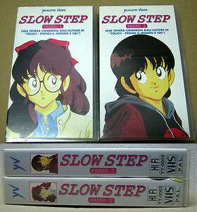 VHS-MANGA-90-MITSURU-ADACHI-SLOW-STEP-1-2-SERIE-COMPLETA-ANIME-INEDITO-DVD-touch