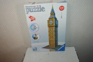 PUZZLE-3D-BIG-BEN-LONDON-LONDRES-TOUR-216-PIECES-COMPLET-RAVENSBURGER