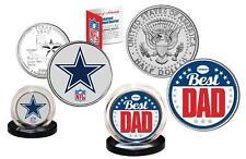 Best Dad - DALLAS COWBOYS 2-Coin U.S. Set Quarter & JFK Half Dollar NFL LICENSED