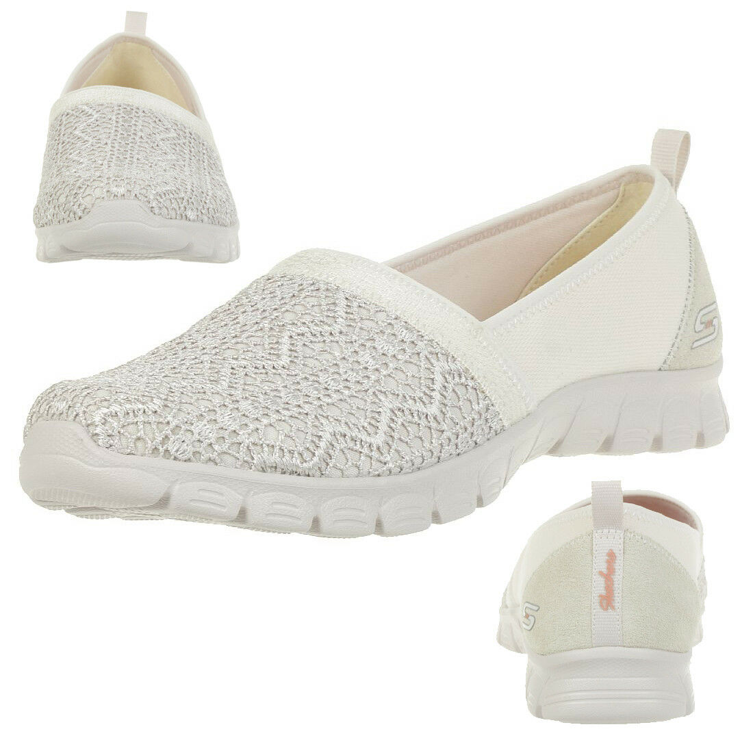 Skechers Ez Flex 3.0 Duches femmes chaussures D'Été à Enfiler Mocassins Nat