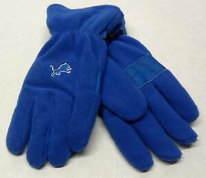 wholesale dealer 696ac b3a43 Details about NWT NFL Detroit Lions Team Apparel Men's Reebok Fleece Gloves  NEW!