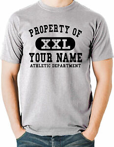 super popular on sale cheap for sale Details about Custom Athletic T Shirt Property Of Your Name Personalized  Print College Sports