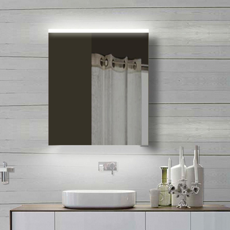 Alu minium LED Kalt Warm weiß weiß weiß licht Badezimmer Bad spiegel schrank Badmöbel 60 b165aa
