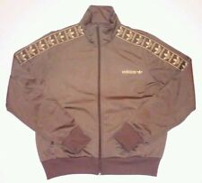 Adidas Brown Gold Track Jacket L Trefoil unisex bboy bgirl breakdance hiphop
