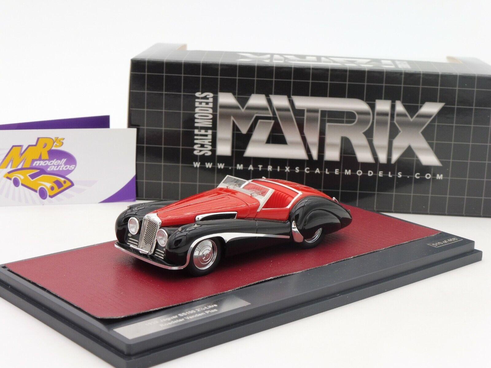 Matrix 41001-131   Jaguar SS100 2 1 2 Litre Vanden Plas Bj.1939 red-black 1 43