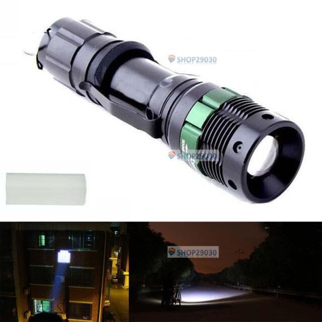 6000 Lumen Zoomable CREE XM-L Q5 LED Flashlight Torch Zoom Super Bright Light SP