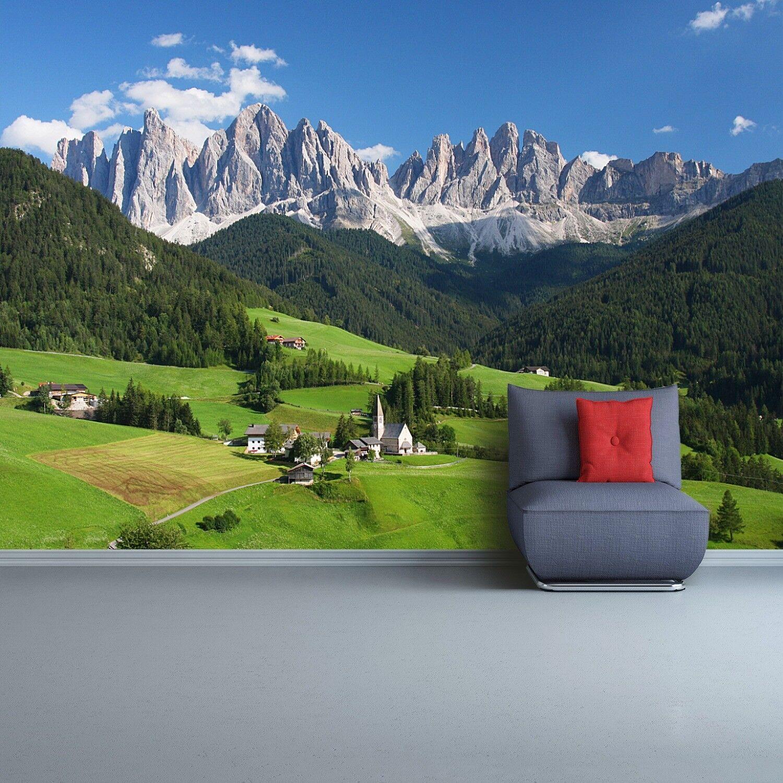 Fototapete Selbstklebend Einfach ablösbar Mehrfach klebbar Dolomiten