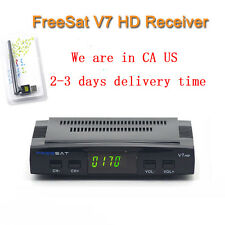 Freesat V7 DVB-S2 HD TV Satellite Receiver With USB WIFI Support Powervu Bisskey
