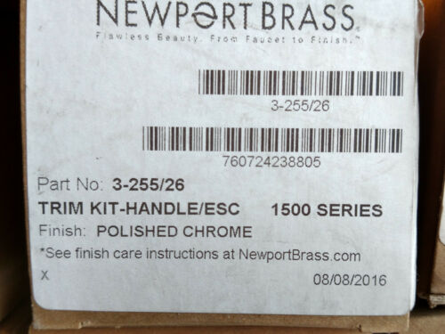 NEWPORT BRASS 3-255//26 EAST LINEAR DIVERTER//FLOW CONTROL HANDLE NEW IN BOX