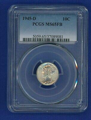 1945-D Mercury Dime PCGS MS-65 FB FSB