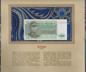 Most-Treasured-Banknotes-Burma-1972-1-Kyat-P-56-UNC-Prefix-DI