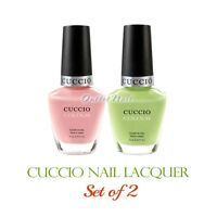 Cuccio Colour Nail Lacquer >> Set Of 2 Colors Polish 13ml /0.43 Oz Kit Lot