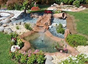 Bacino alleghe laghetto da giardino fontana giochi d for Laghetti artificiali per giardino
