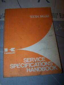 Bien Q1 Service Specifications Handbook Kawasaki 1983 1984
