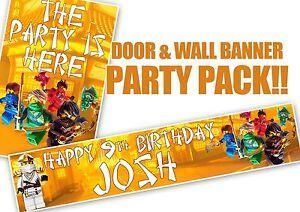Lego Ninjago Birthday Door Banner And Personalised Wall Banner Ebay