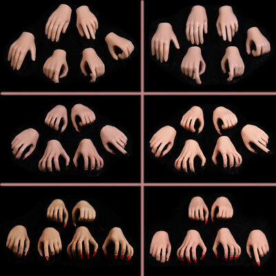 "1//6 Female Girl Black Gloves Gun Hold Hands Type*8 For 12/"" Phicen Pale Figure"