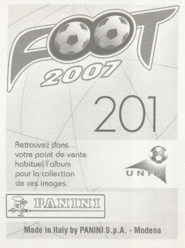 201 MODESTE M/'BAMI OLYMPIQUE MARSEILLE OM CAMEROON STICKER FOOT 2007 PANINI