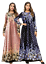 Fashion-Women-039-s-Flower-Abaya-Muslim-Long-Maxi-Party-Dress-Dubai-Gown-Kaftan-Robe miniature 2