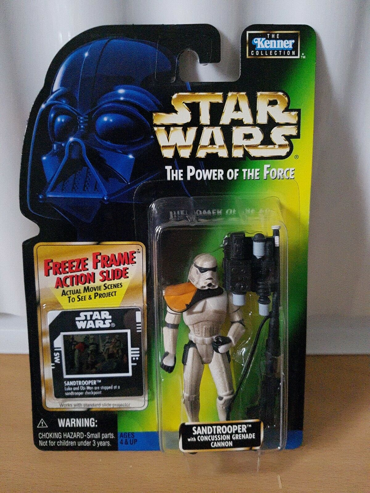 Star Wars Power of the Force POTF SANDTROOPER FREEZE FRAME very rare 1997 new
