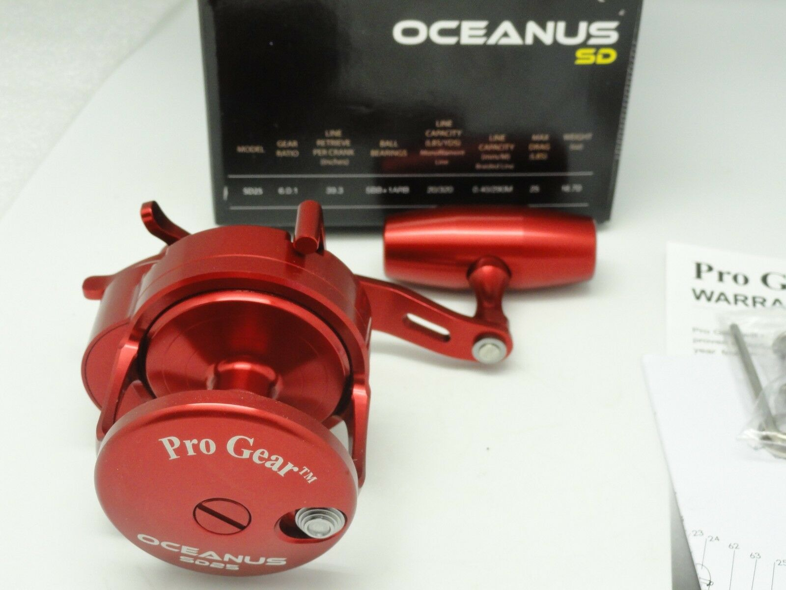 NEW 2018 Oceanus SD25 Pro Gear SD SD SD 25 Best Star Drag reel rosso FREE JAWS COVER RH 1b5a44