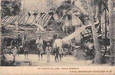 POSTCARD    INDIA   Indian  Village  near  Bombay