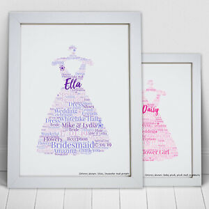 Personalised-Word-Art-Bridesmaid-Flower-Girl-Dress-Print-Thank-You-Frame-Gift